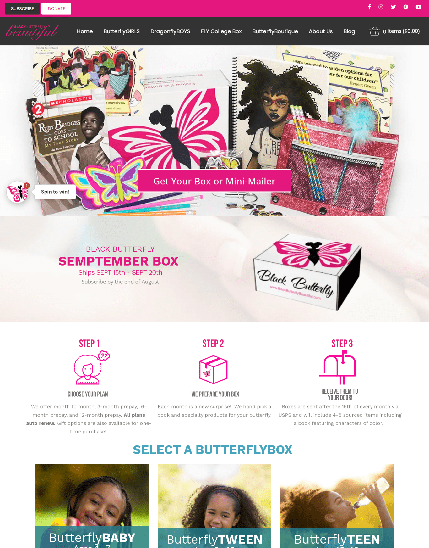 Black Butterfly Beautiful Mockup